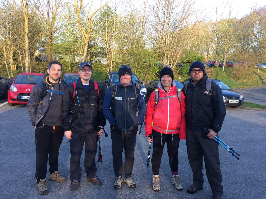 Mike Goude, Owner of RockRiver Expeditions with four clients before taking on the Yorkshire Three Peaks