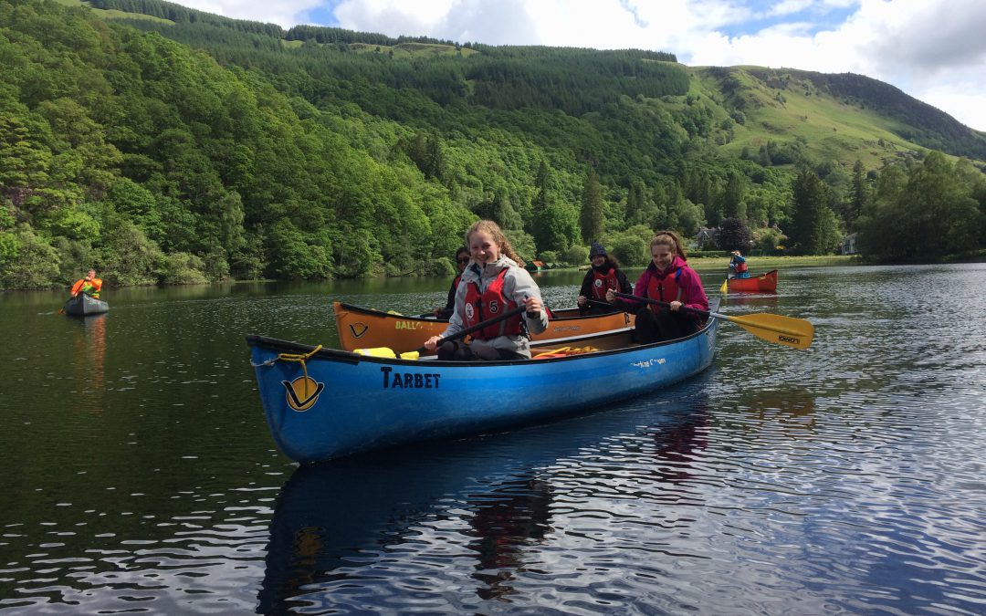 Gold DofE training day with Craigholme School and The Adventure Academy CIC, Loch Ard.  June 2017