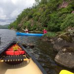 Duke of Edinburgh Award canoes on Loch Ard, Scotland