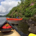 Duke of Edinburgh Award canoes on Loch Ard, Scotland