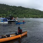 Duke of Edinburgh Award canoeists on Loch Lomond, Scotland