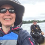 Michael Goude and Paula Goude from RockRiver Expeditions canoeing on Loch Lomond