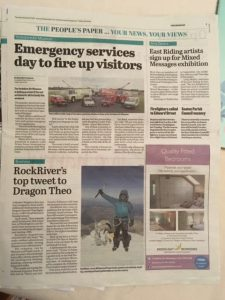 Newspaper article detailing RockRiver Expeditions #SBS win with Theo Paphitis
