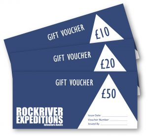 £10, £20 and £50 gift vouchers for RockRiver Expeditions