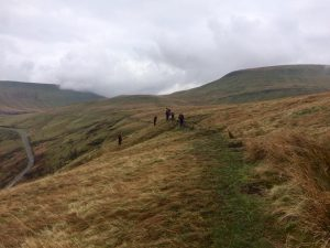A view of the Brecon Beacons as a group undergo a navigation test