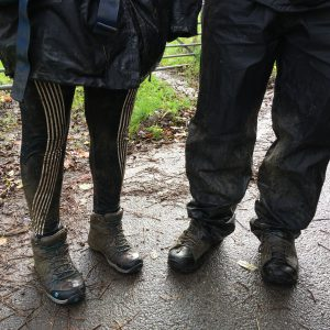 Muddy boots after a Duke of Edinburgh Award Expedition