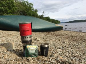 Taylors Coffee Bags, Lifeventure Flask, MSR Stove