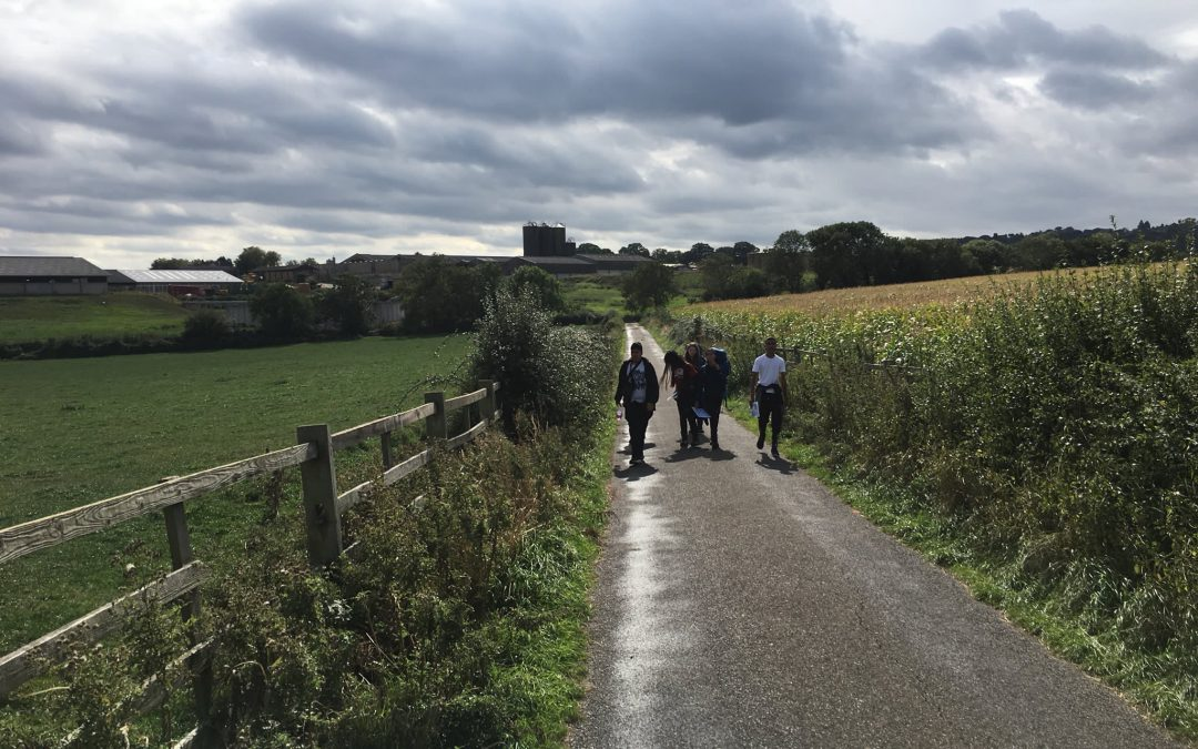 Bronze DofE training weekend with army cadets from Leicester and students from Crownhills Community College, September 2018