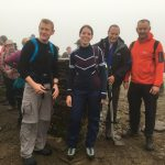 RockRiver Expeditions clients at the summit of Pen y Ghent the first peak on their Yorkshire Three Peaks challenge