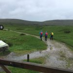 Mike Goude RockRiver Expeditions leads group up Ingleborough