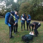 Team 4 briefing for day 2 bronze dofe practice exped