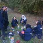 Group cooking on bronze dofe expedition