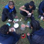 Group cooking on dofe exped