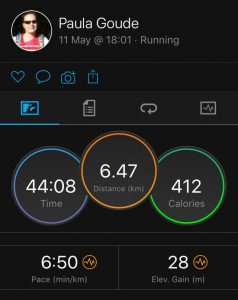4four24 first run of six in a 24 hour Adventure by Paula Goude recorded on Garmin Fenix 5s