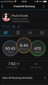 4four24 second run of six in a 24 hour Adventure by Paula Goude recorded on Garmin Fenix 5s