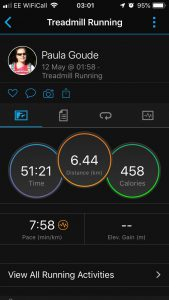 4four24 third run of six in a 24 hour Adventure by Paula Goude recorded on Garmin Fenix 5s