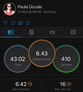 4four24 fourth run of six in a 24 hour Adventure by Paula Goude recorded on Garmin Fenix 5s