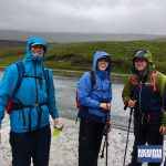 Hikers prepare to leave checkpoint one during their Yorkshire Three Peaks Challenge with RockRiver Expeditions