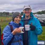 Celebrating the finish of their Yorkshire Three Peaks Challenge with RockRiver Expeditions