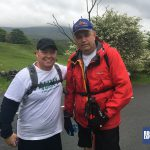 Two of the Snappy charity team ready to tackle Ingleborough on their Snappy Charity Yorkshire Three Peaks Challenge with RockRiver Expeditions