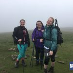 Three of the Snappy Charity Yorkshire Three Peaks Challenge team happy to have conquered Whernside with RockRiver Expeditions