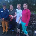 The White Stuff Snappy fundraisers with Michael Goude from RockRiver Expeditions at the end of their challenge