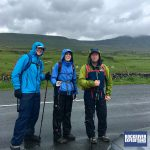 Leaving checkpoint two to tackle the last of the Yorkshire Three Peaks