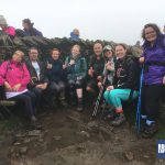 The Snappy Yorkshire 3 Peaks team are all smiles on the top of Whernside
