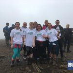 It's celebrations at the top of the first summit for the Snappy Yorkshire 3 Peaks team with RockRiver Expeditions