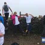 The Snappy Yorkshire 3 Peaks team members enjoying their first peak