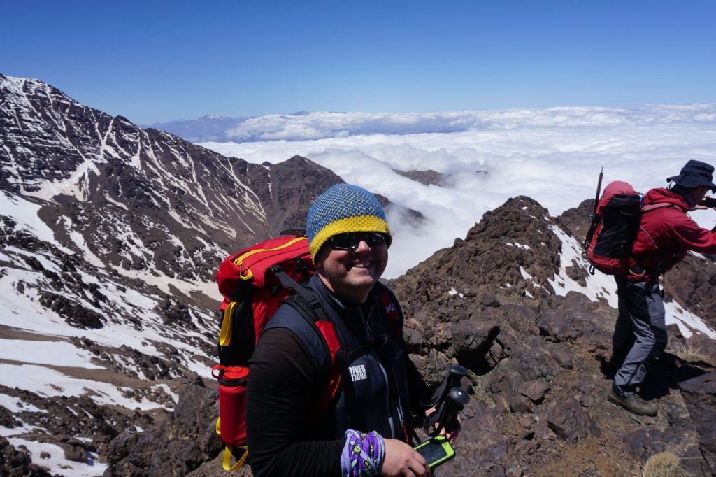 Michael Goude from RockRiver Expeditions on Toubkal, Morocco