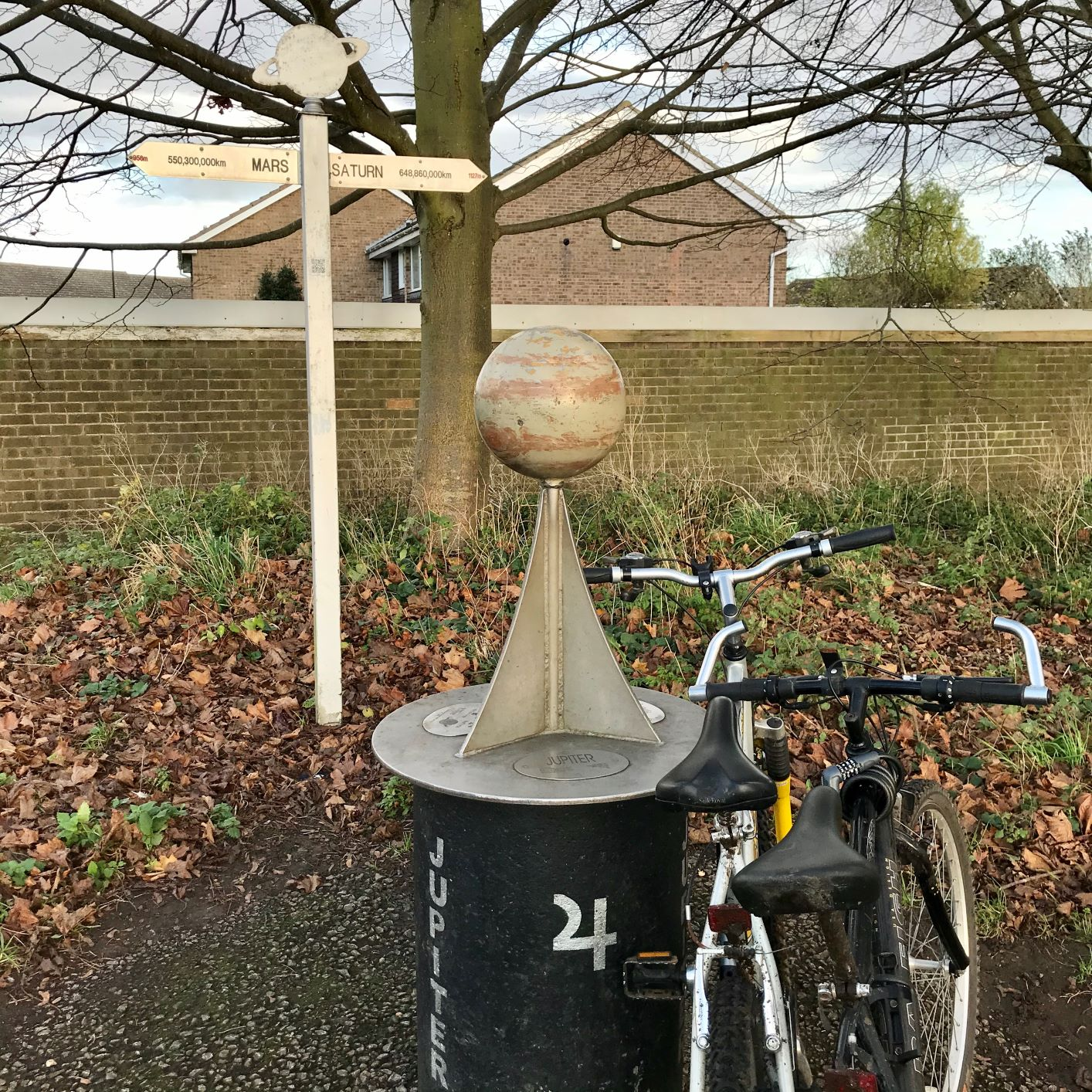 Jupiter on the solar system cycle route near York