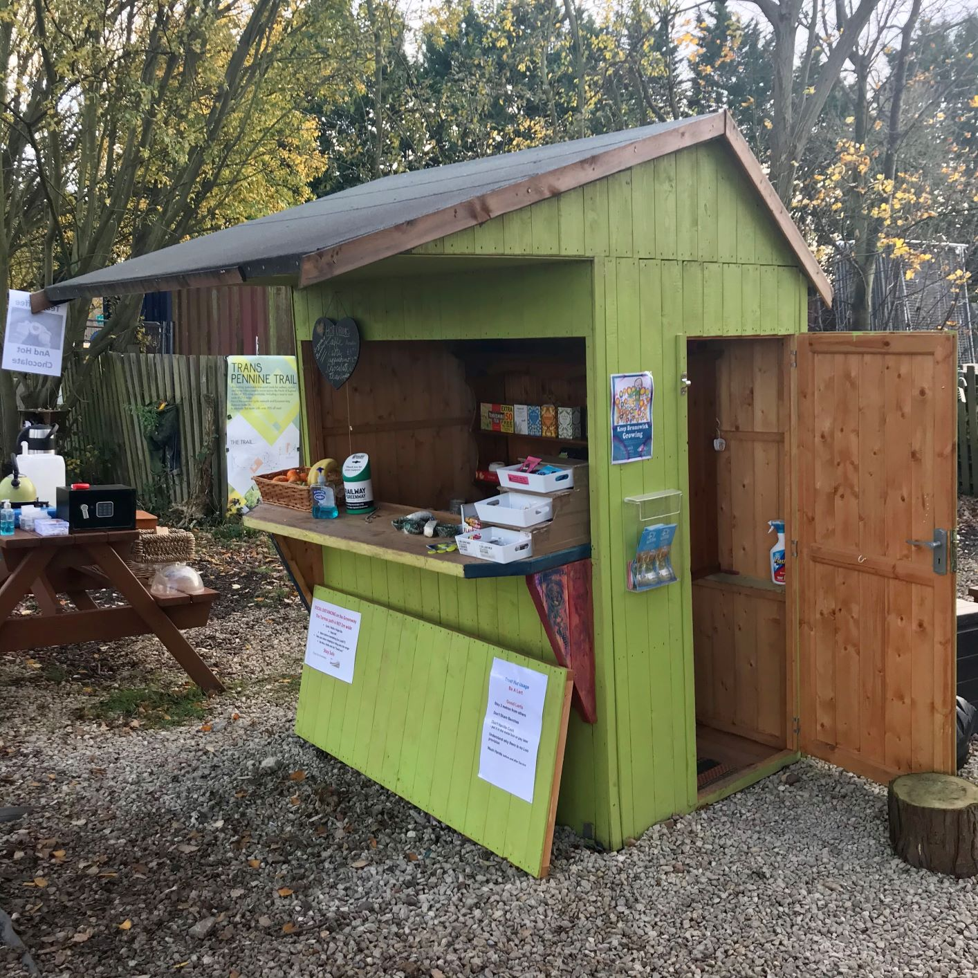 The Trust Hut at the planet Saturn on the solar system cycle route